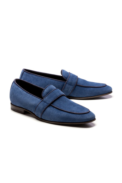 Dark Blue Suede Loafers