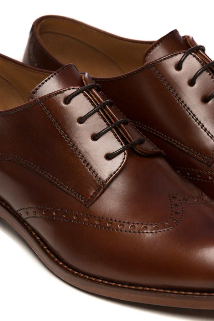 Pantofi Brogue Business Derby