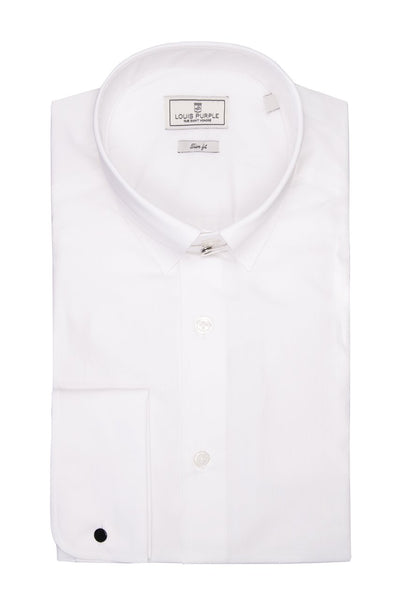 White Collar Business Shirt Tab