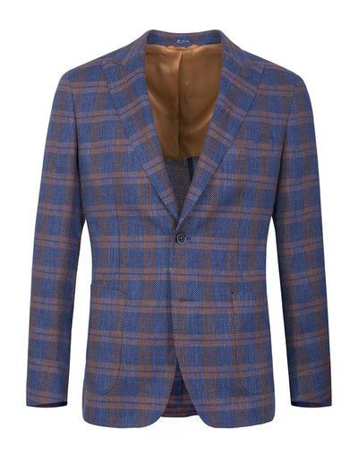 Blue Plaid Smart Jacket