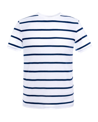 T-shirt With White Stripes, a Navy