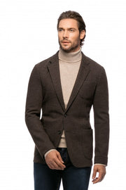 Unstructured slim fit jacket