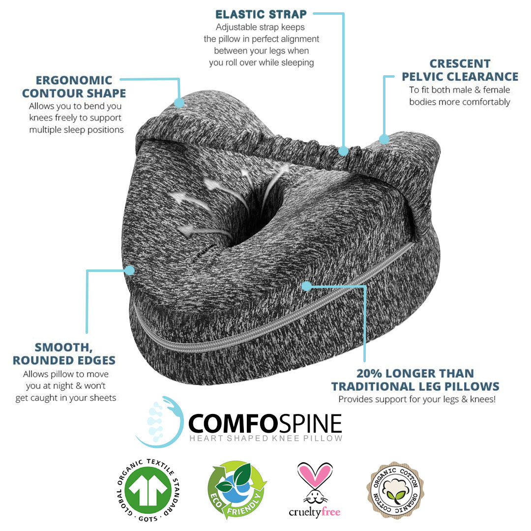 Comfospine™ Orthopaedic Knee Pillow with Strap