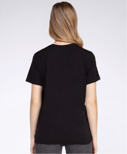 Load image into Gallery viewer, BLACK FRONT TWIST TEE