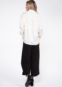 WIDE LEG PANT WITH SNAP