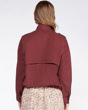 Load image into Gallery viewer, DEEP ROSE CARGO JACKET
