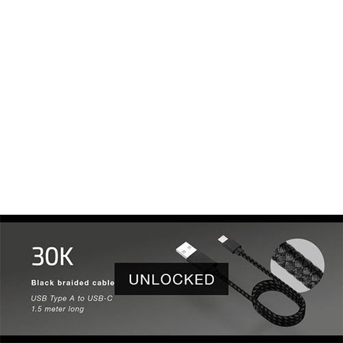 30k Stretch Goal unlocked! We will ship THE BRICK with Braided Cables.
