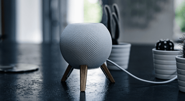 balolo, precision crafted goods, wooden accessories, wood, walnut wood, oak wood, Apple HomePod Mini, HomePod mini stand, made in Germany, handmade