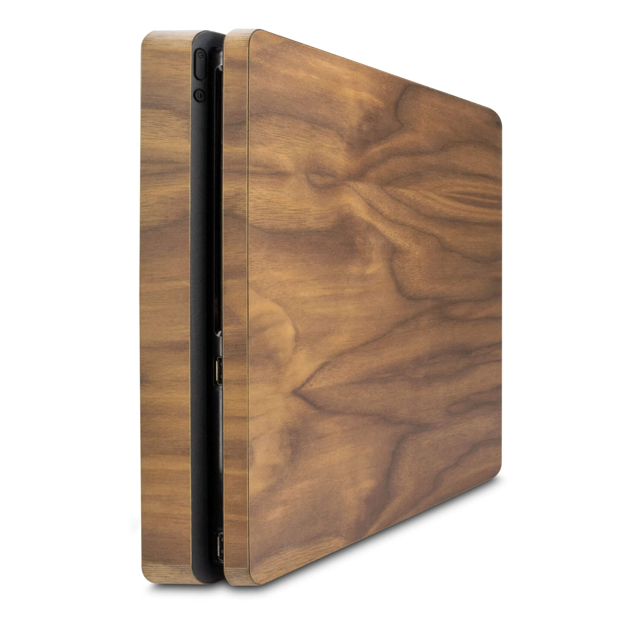 Playstation 4 Slim Walnut Wood Cover