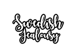 Swedish Jealousy Text Logo Black and White