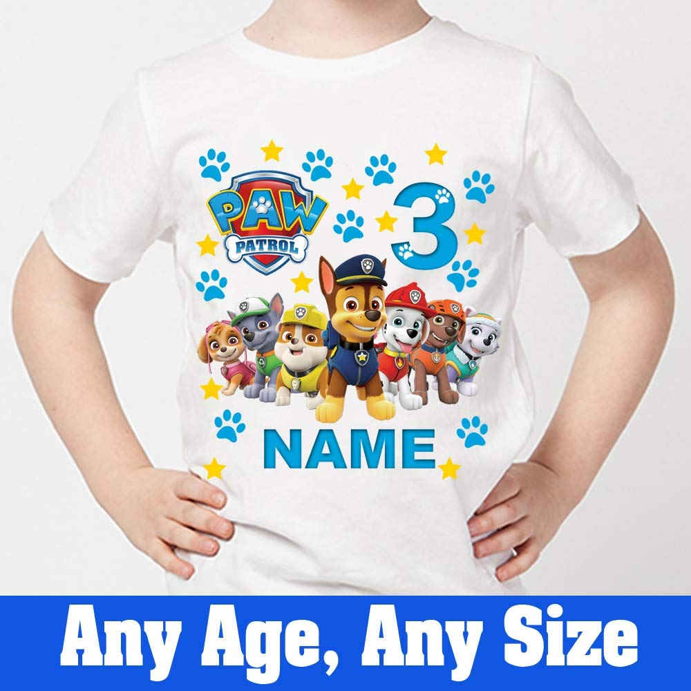Sprinklecart Personalized 3rd Birthday T Shirt Ideal Paw Patrol Birthday Dress