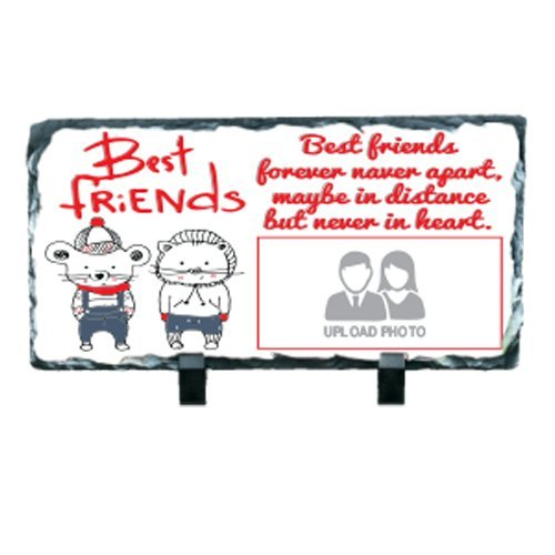 Personalized Photo Printed Rock Rectangular Shape For Best Friend(Friendship Day Gift)