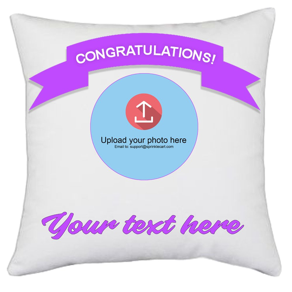 Congratulations – Simply Appreciate The Achiever | Customized Photo Pillows and Cushions by Sprinklecart | 15″ x 15″ with Filler Insert