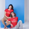 Sprinklecart The King The Queen Men Women Cotton T Shirt Combo for Couples