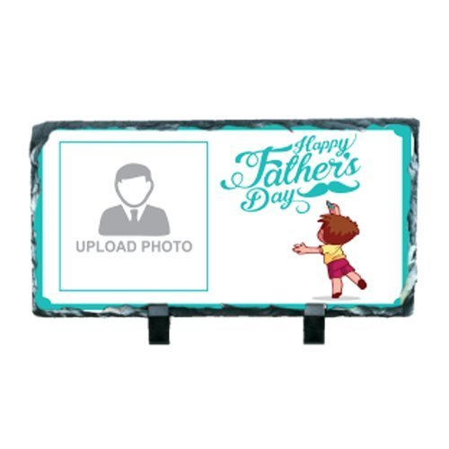 Custom Printed Loving Dad Rectangular Photo Rock For Your Father's (Father's Day Gift)