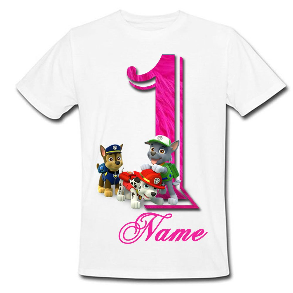 Sprinklecart Special Paw Patrol Kids 1st Birthday Tshirt Gift | Personalized Name Printed Awesome Gift