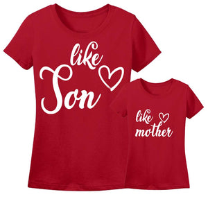 Sprinklecart Men's and Women's Like Son, Like Mother Matching T Shirt Combo
