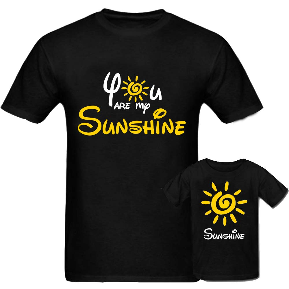 Sprinklecart You're My Sunshine, Sunshine T Shirt | Cotton Matchig T Shirt for Mom and Daughter (Black)