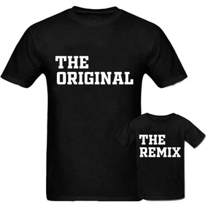 Sprinklecart Unique Dad and Son Combo T Shirts | The Original & The Remix Lovely T Shirt (Black)