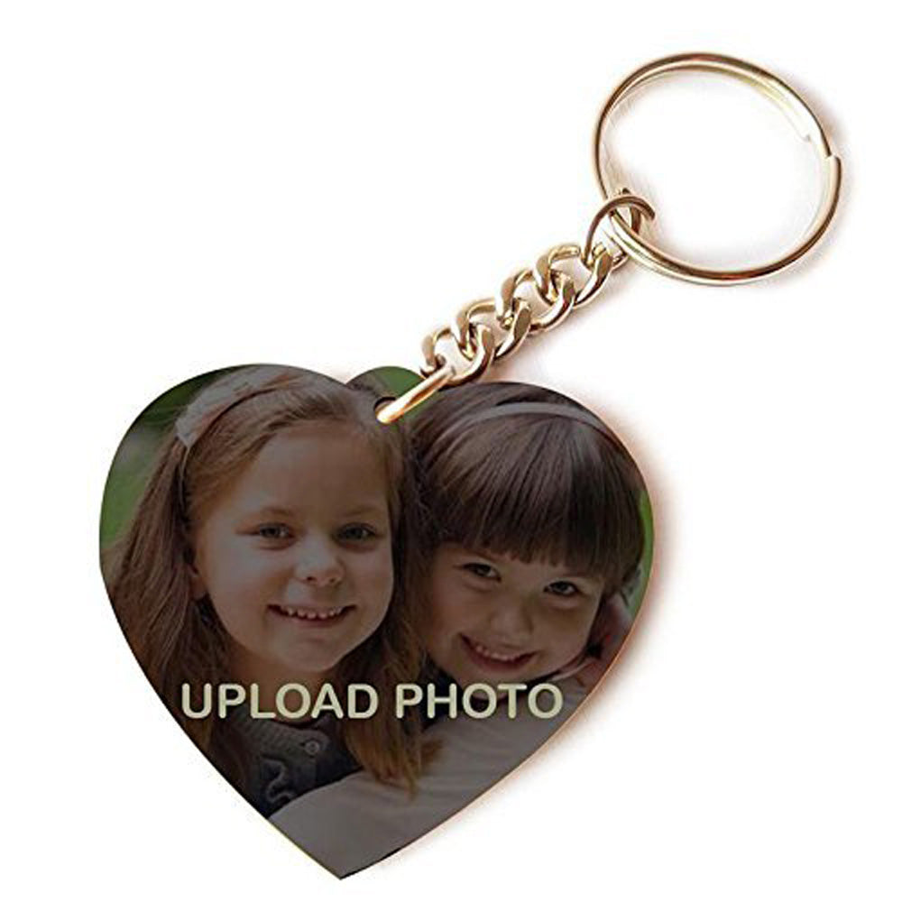 Personalized Photo Printed Heart Shape Keychain