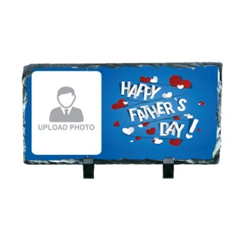 Love My Dad Rectangular Custom Printed Photo Rock (Father's Day Gift)