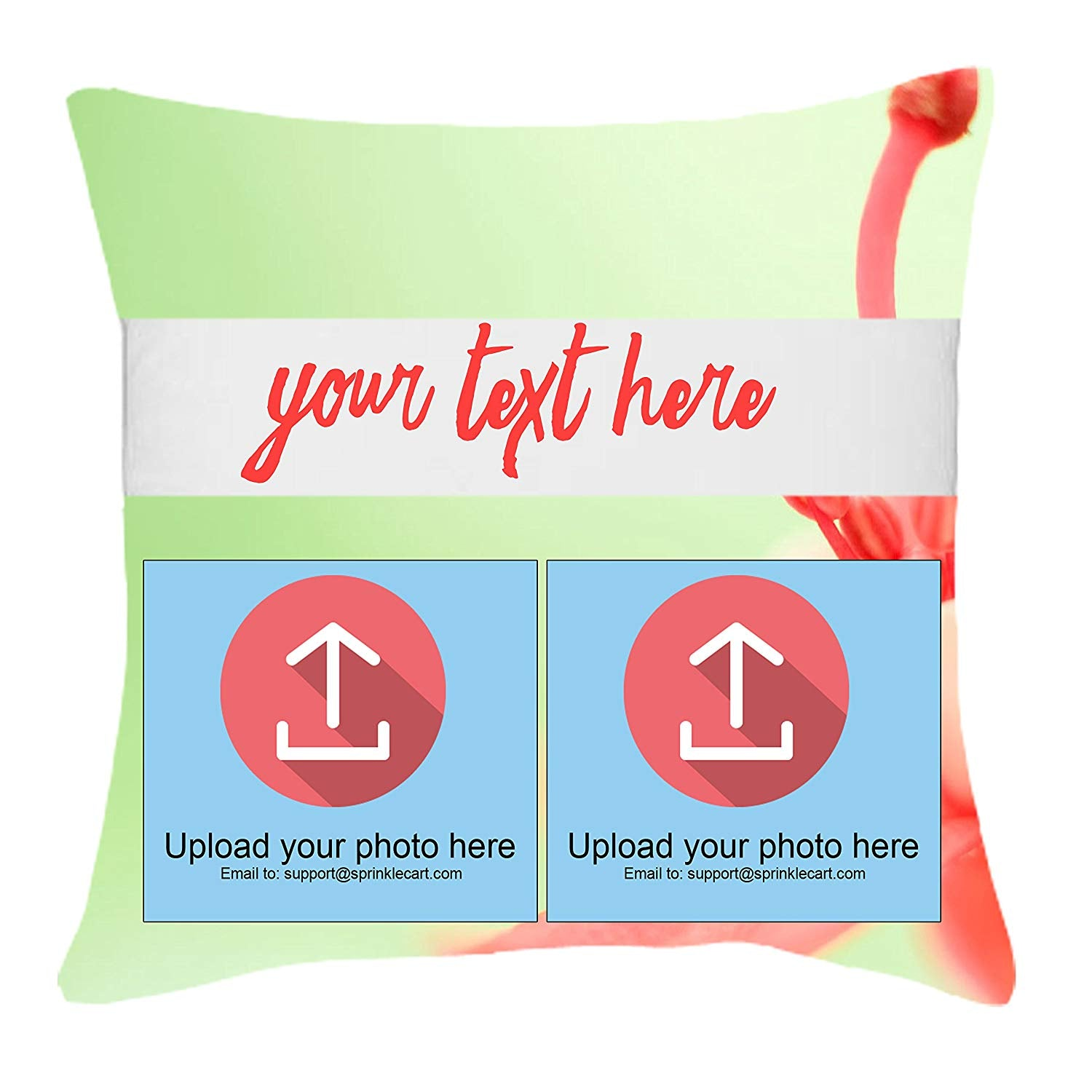 Gift for Friend | Personalized Photo and Text Printed Special Gift Cushion by Sprinklecart | 15″ x 15″ with Filler Insert