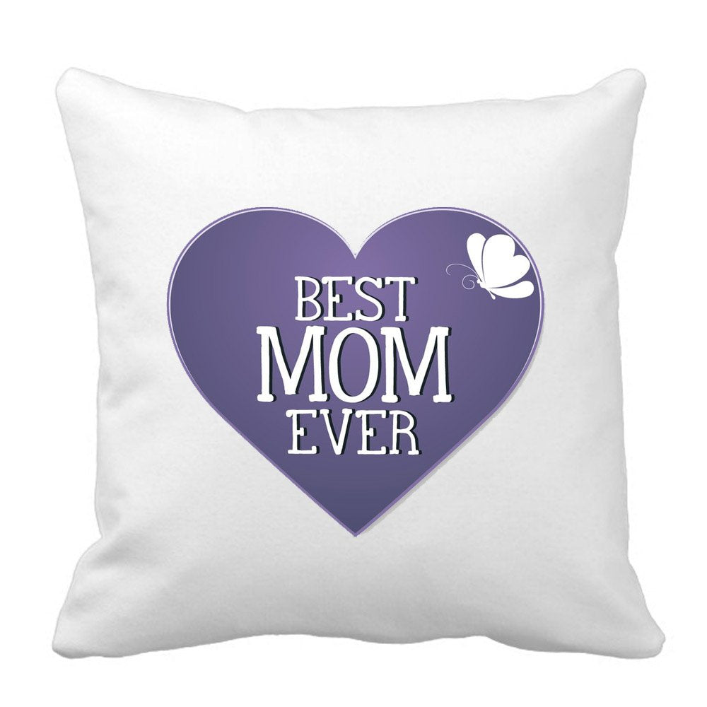Sprinklecart's Satin Best Mom Ever Unique Cushion – 15″ x 15″ Size – Perfect Gift for Any Occassion