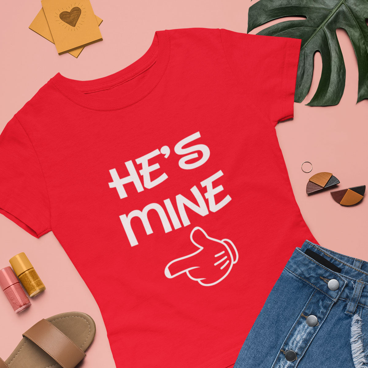Sprinklecart Matching He's Mine She's Mine T Shirt | Set of 2 Cotton T Shirt for Couples