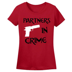 Sprinklecart Partners in Crime Unique T Shirt Set | Dad Daughter T Shirt Combo (Red)