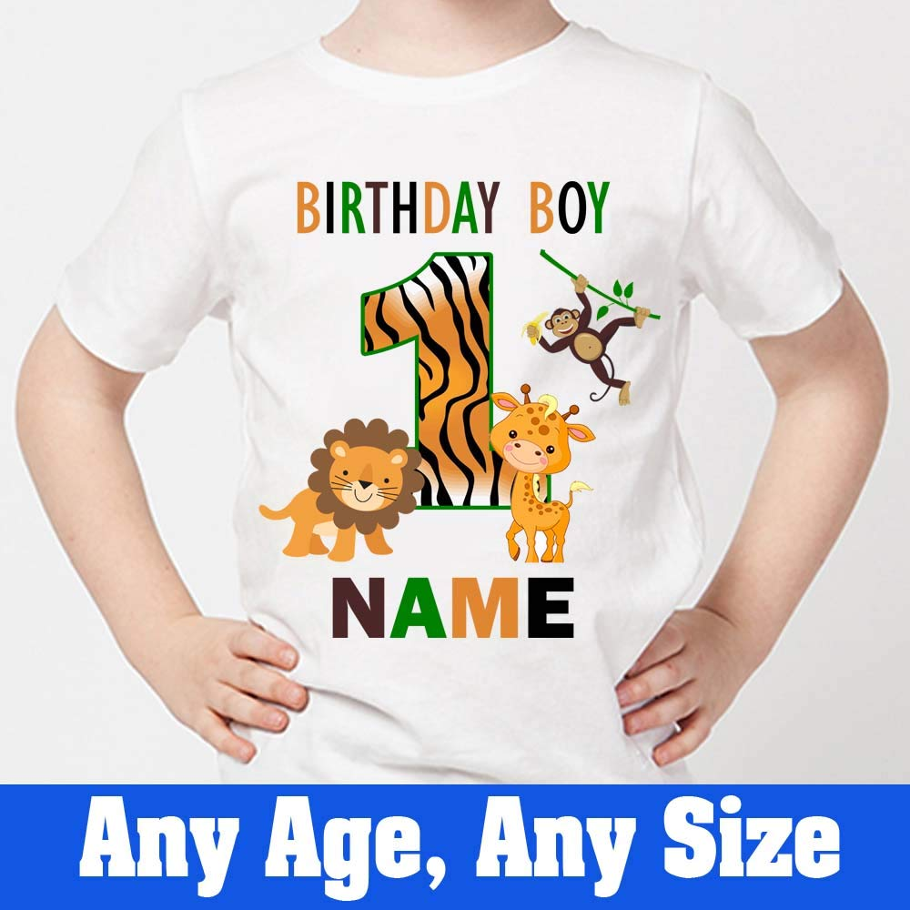 Sprinklecart Jungle Themed First Birthday T Shirt | Personalized Ideal Birthday Dress