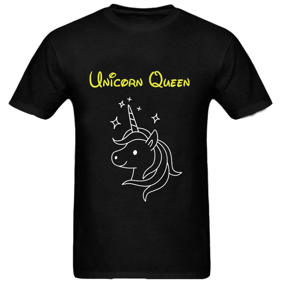Sprinklecart Lovely Unicorn Themed T Shirt Combo | Cotton T-Shirt Set for Mom and Daughter (Black)