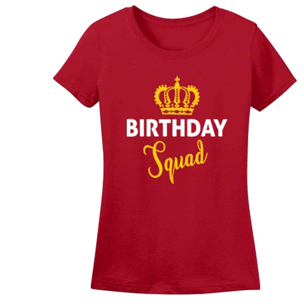 Sprinklecart Birthday Squad and Boy Image Printed Gift Tee Family Birthday Wear