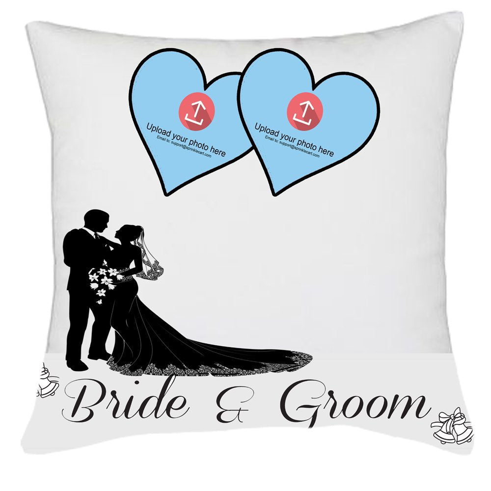 Wedding Gift | Personalized Couple Photo Printed Gift Pillows by Sprinklecart | 15″ x 15″ with Filler Insert