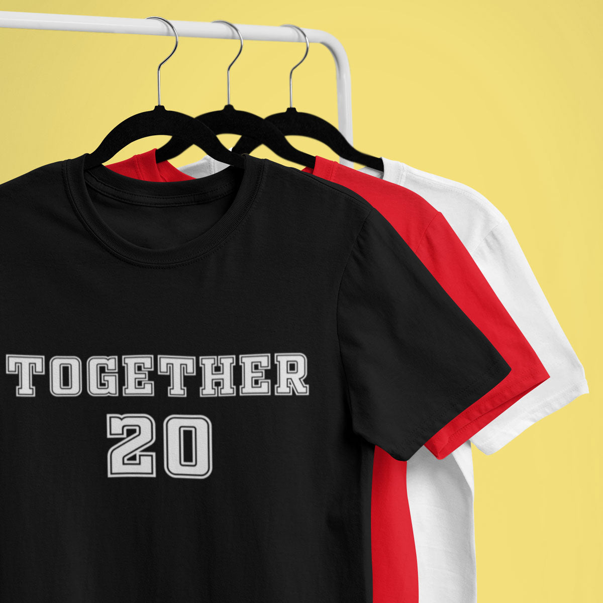 Sprinklecart Together Since 2019 Matching Couple T Shirt | Combo T Shirts for Couples