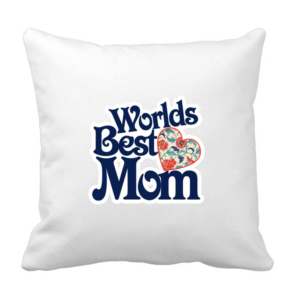 Worlds Best Mom Uniquely Designed Cushion by Sprinklecart – 15″ x 15″ Size – Perfect Gift for Any Occassion