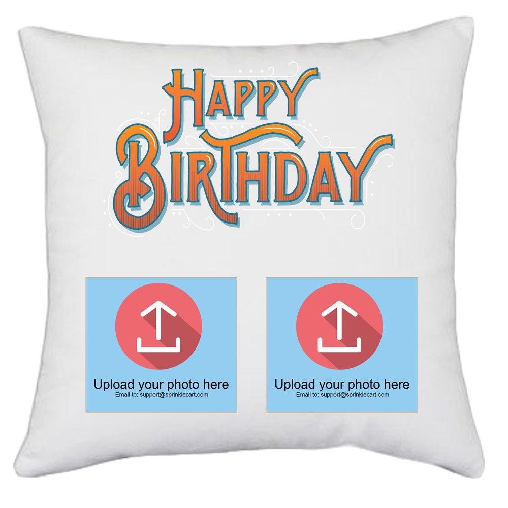 Make This Birthday Special | Sprinklecart's Customized Photo Printed Unique Gift Pillows & Cushions | 15″ x 15″ with Filler Insert