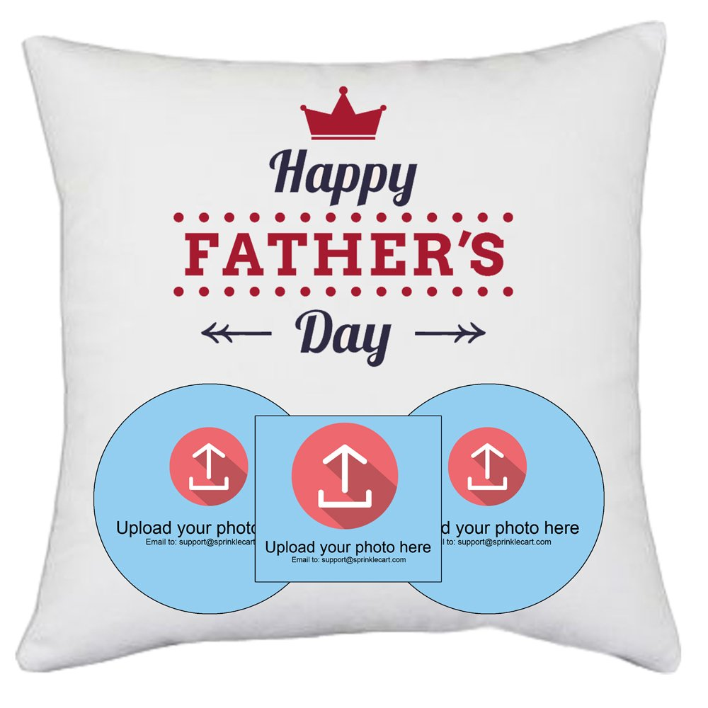 Make This Father's Day Unique | Photo Cushion Gift by Sprinklecart | 15″ x 15″ with Filler Insert