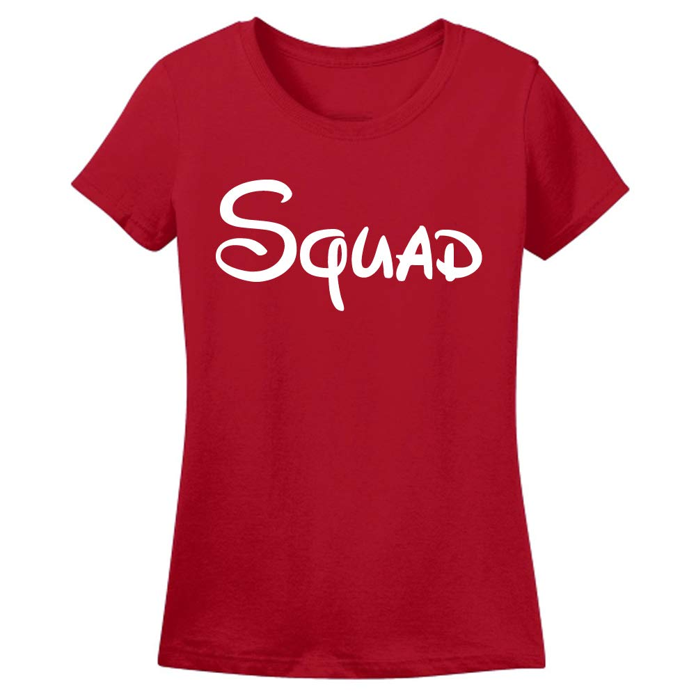 Sprinklecart Cotton Matching Mom and Daughter T Shirt | Suad, My Squad Calls Me Mommy T Shirt (Red)