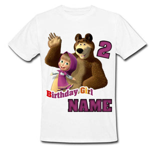 Sprinklecart Masha and The Bear Kids Birthday Tee 2nd Birthday Dress