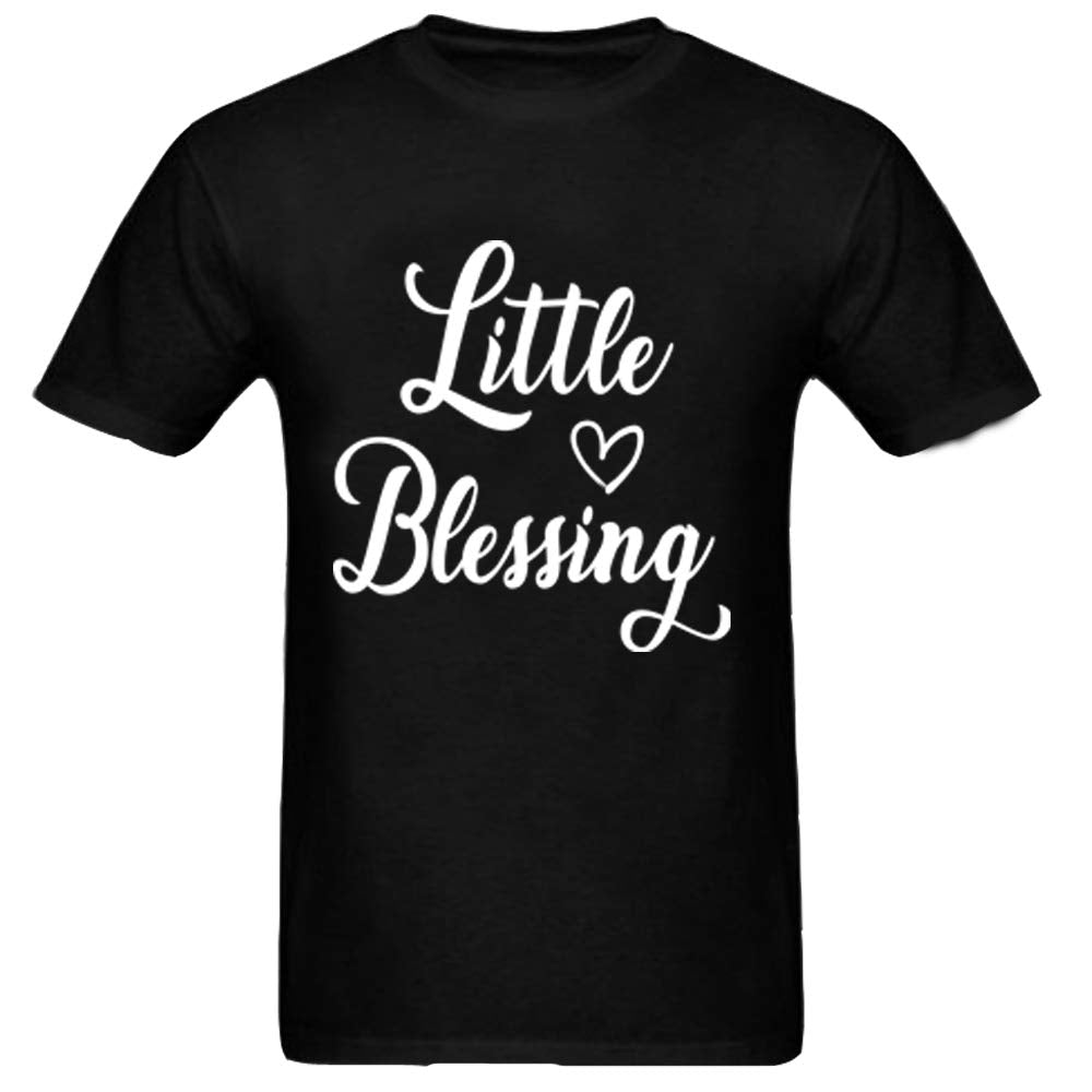 Sprinklecart Blessed Mama, Little Blessing Printed T Shirt | Lovely T Shirt Set for Mom and Little Girl (Black)