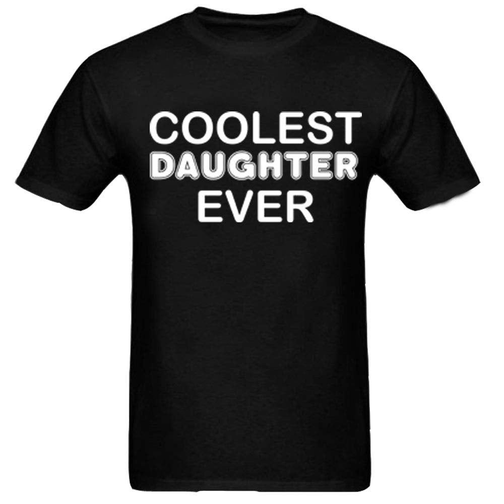 Sprinklecart The Coolest Dad & Daughter Ever | Dad and Daughter Matching T Shirt Combo (Black)