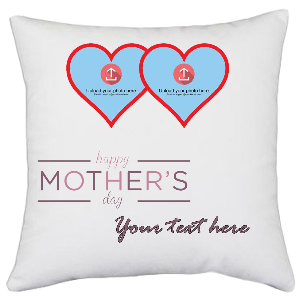 Mothers Day Gift | Personalize Your Pillow with Text & Photo by Sprinklecart | 15″ x 15″ with Filler Insert