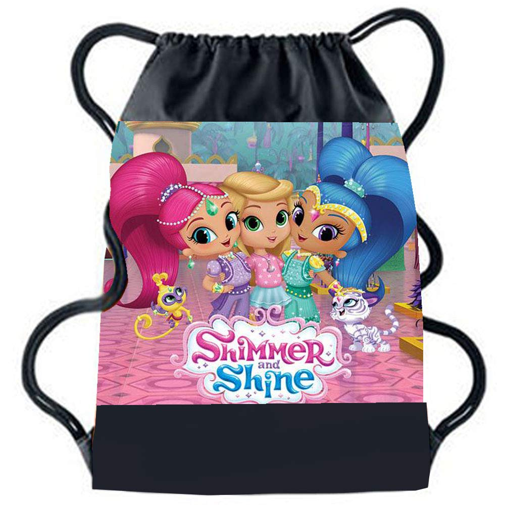 Sprinklecart Special Shimmer and Shine Kids Favourite Character Image Printed Gift | Personalized Name Printed Kids Special Gym Bag