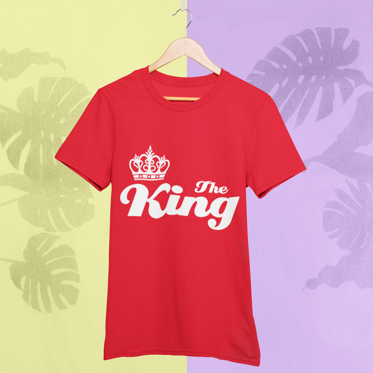 Sprinklecart The King The Queen Matching T Shirt | Set of 2 Cotton T Shirt for Couples