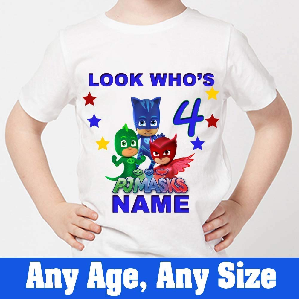 Sprinklecart Ideal PJ Masks Birthday T Shirt 4th Birthday Dress for Your Kid