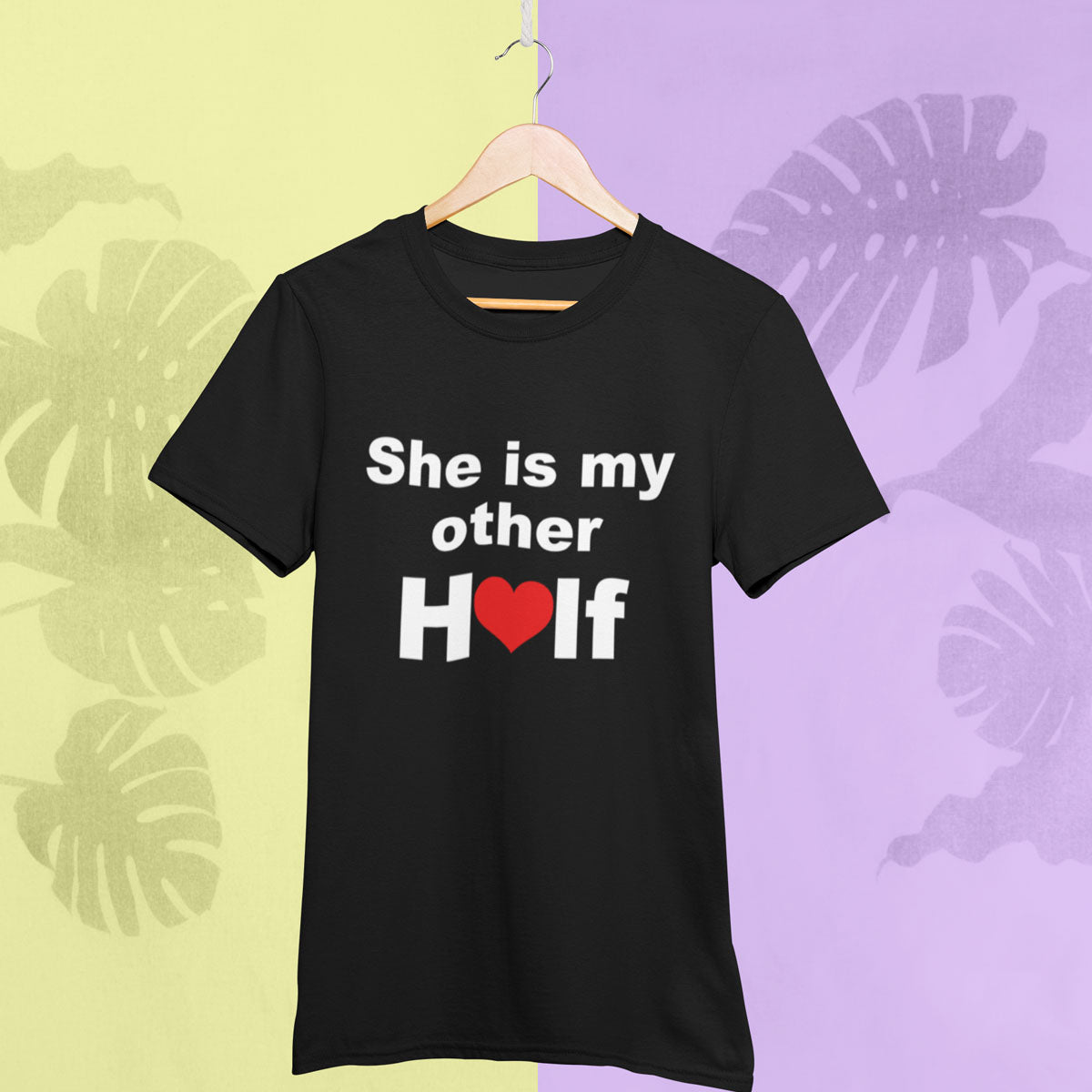 Sprinklecart He's My Other Half She's My Other Half T Shirt Combo | Matching Couple T Shirt