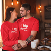 Sprinklecart I Love My Awesome Wife | I Love My Awesome Hus Printed Couple T Shirt