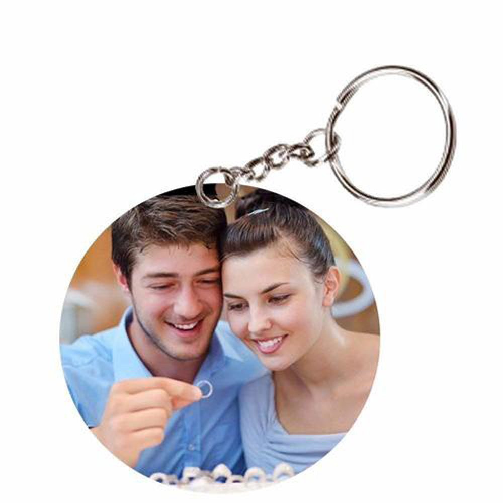 Sprinklecart Multicolour Personalized Photo Round Keyring & Keychain