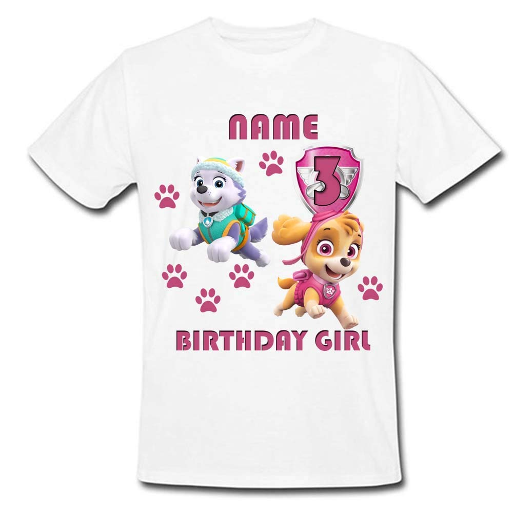 Sprinklecart Ideal Paw Patrol Birthday T Shirt | Personalized Birthday Wear for Your Kid