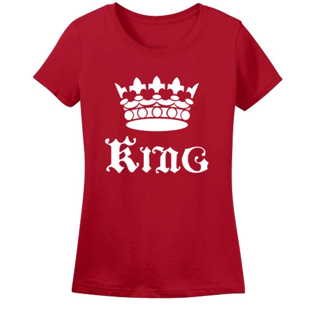 Sprinklecart Unisex Polyester King Queen and Princess Design Printed Family Tee